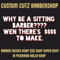 ☆☆☆ BARBER WANTED FOR PICKERING LOCATION ☆☆☆
