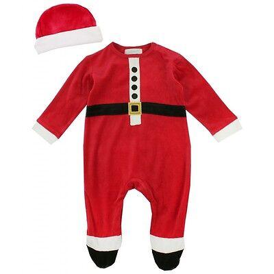 Baby Strampler+Mütze Santa Claus Weihnachten Gr.62-68/74 Nicki Englandmode (Baby Santa Mütze)