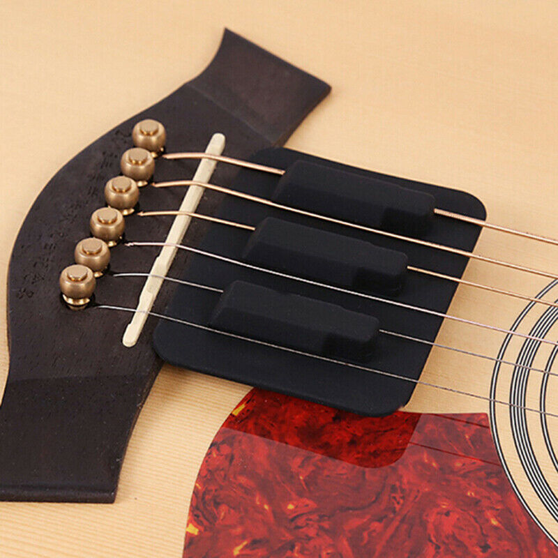 Classical Acoustic Guitar Silencer Guitar Practice Mute Pad Musical Accessor - $9.41