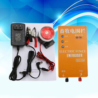 Dc12v Ac220v Solar Electric Fence Energizer Charger For Poultry With Alarm