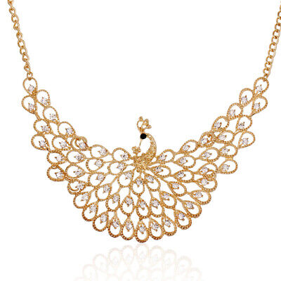 Crystal Peacock Necklace Fashion Accessories Sweater Chain Long Clavicle Chain](Peacock Accessories)