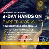 Mens Barbering Course/Learn to Fade/Barber Class