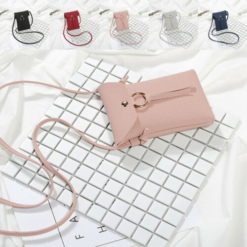 Women PU Leather Wallet Purse Coin Cell Phone Mini Cross-bod