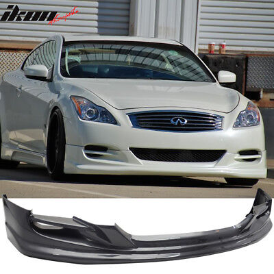 Fits 08-14 Infiniti G37 2Dr Coupe TS Style Front Bumper Lip Spoiler PU Urethane 08 Infiniti G37 Coupe