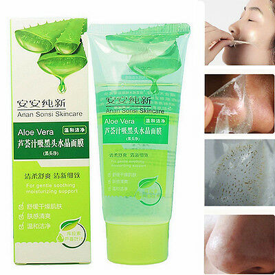 New Fashion Valid Aloe Vera Blackhead Removal Acne Deep Cleaning Face Mask 100g