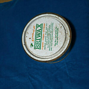 Briwax vintage antique collectible UK made wax tin box