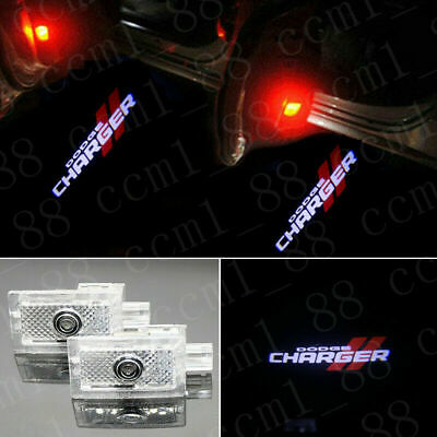 DODGE CHARGER 2X LED PROJECTOR LIGHT LOGO EMBLEM ACCESSORY CAR DOOR BRIGHT LIGHT