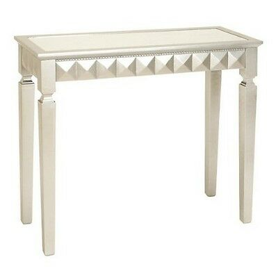 Deco 79 Wood Mirror Console Table 37 By 32-Inch Silver New