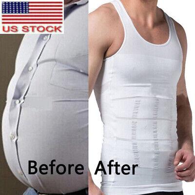 Men Lift Body Slimming Tummy Shaper Underwear shapewear Waist Girdle Shirt Vest