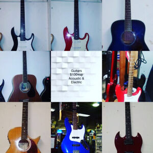 GUITAR SALE $100+up Acoustic & Electric over 20 guitars