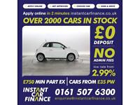 Fiat 500 0.9 2014MY LOUNGE CAR FINANCE FOR ALL CREDIT TYPES!! WE CAN HELP!!