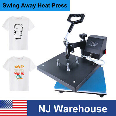 12x9 Swing Away Heat Press Machine Sublimation Transfer For Diy Print T-shirts