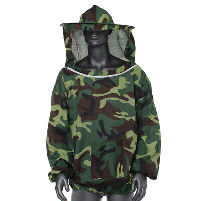 Beekeeping Protective Jacket Veil Dress Suitpull Hat Smock Equipment Camouflage