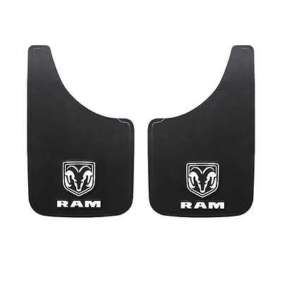 2PC DODGE RAM HEAD WHITE LOGO 9X15 MUD SPLASH GUARDS FLAPS FOR CAR TRUCK SUV