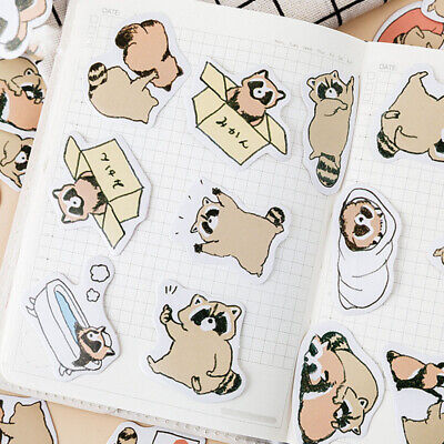 Kids Raccoon Stickers Stationery List Diary Paper Sticker For Decorations