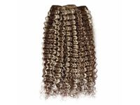 "20"" Deep Wave Afro Hair Weft Extensions - Light Golden Brown and Honey Blond at kode-store"