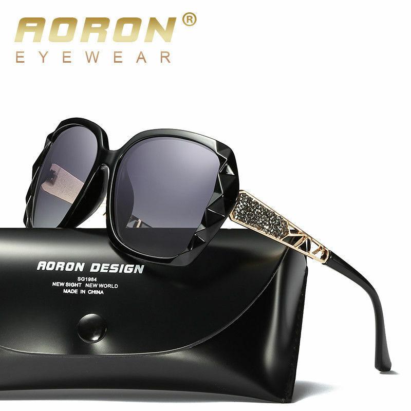 AORON Damen Designer polarisierte Sonnenbrillen Oversized Brillen UV400 fahren