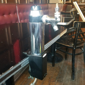 Solo tap ( faucet ) beer draft ( draught ) tower .