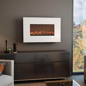 White Wall Mount Electric Fire Place West Island Greater Montréal image 2
