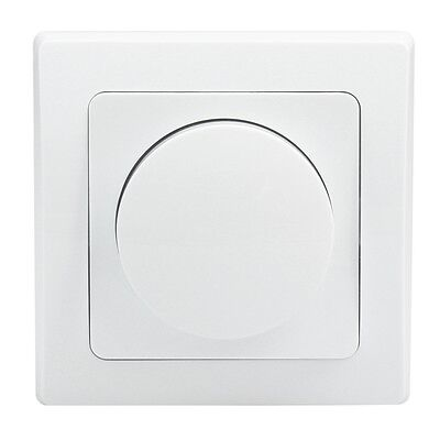 "Dimmer ""DELPHI"" weiß 230 V / 20-300 W, Unterputz, inkl. Rahmen / Phasenanschnitt"