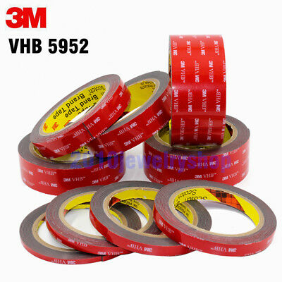 3M VHB 5952 Black Double sided Acrylic Foam Adhesive Automotive Tape 3meter/Roll 3 Meter Vhb Double Sided Tape