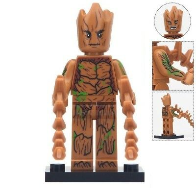 Teen Groot Minifigure - Super Hero Figure For Custom Lego Minifigures [Tall 5cm] (Teen Super Hero)