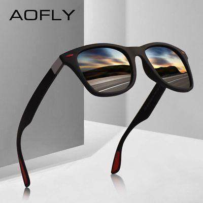 AOFLY BRAND DESIGN Classic Polarized Sunglasses Men Women Driving Square Frame