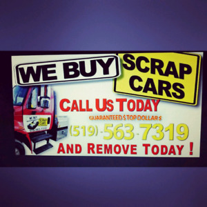 WE BUY SCRAP CARS SAME DAY REMOVAL 5195637319