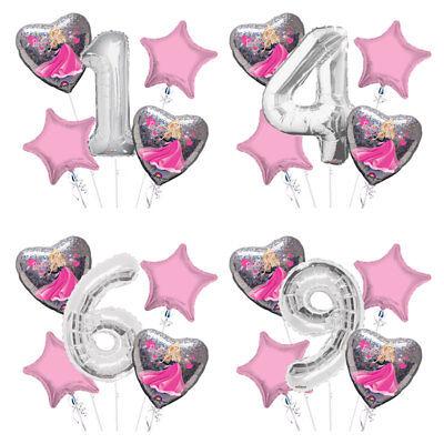 Barbie Balloon Bouquet 1-9 Happy Birthday 5 pcs - Party - Barbie Balloons