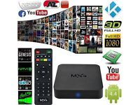 Kodi box Android TV 4k MXQ Fully Loaded Quad core, HD. FREE Sports, FREE Movies, FREE Box office