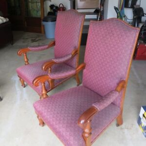 Pair of Antique 19th century Raeburn style arm chairs