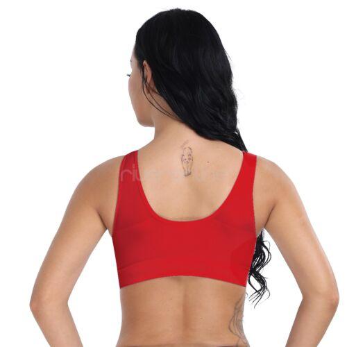Women's Yoga Fitness Workout Tank Tops Seamless Racerback Padded Sports BH Bra