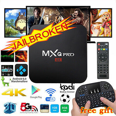 2017 4K M X Q Pro Quad Core Android 6.0 Smart TV Box Fully Loaded Media Player