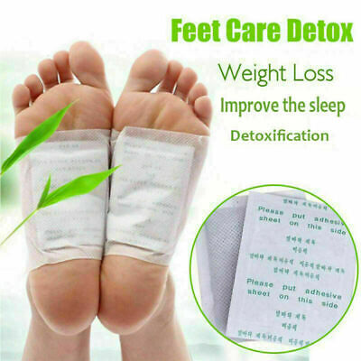 10PCS Detox Foot Pad Ginger Herbal Toxin Removal Improve Sleep Weight Loss Patch