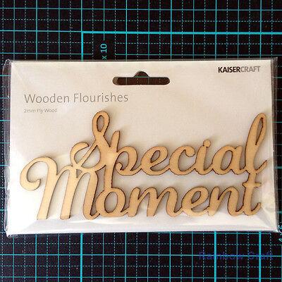 Kaisercraft Wooden Embellishments flourish Pack 18 wording / patterns U select - special moment