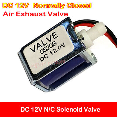 Dc 12v Nc Solenoid Valve Mini Electric Air Gas Exhaust Valve Normally Closed