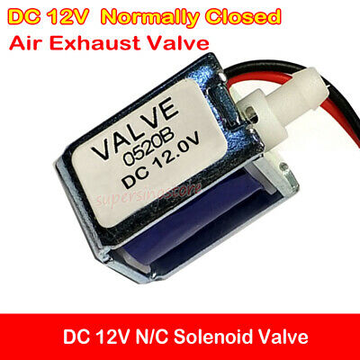 Normally Closed Solenoid Valve Dc 12v Nc Mini Electric Air Gas Exhaust Valve