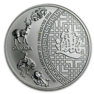 Silver Canadian $5 Five Blessings argent 2014 1 oz sealed