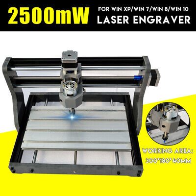 Cnc 3018 Pro Machine Router 3 Axis Engraving Pcb Wood Diy Mill2500mw Laser Head