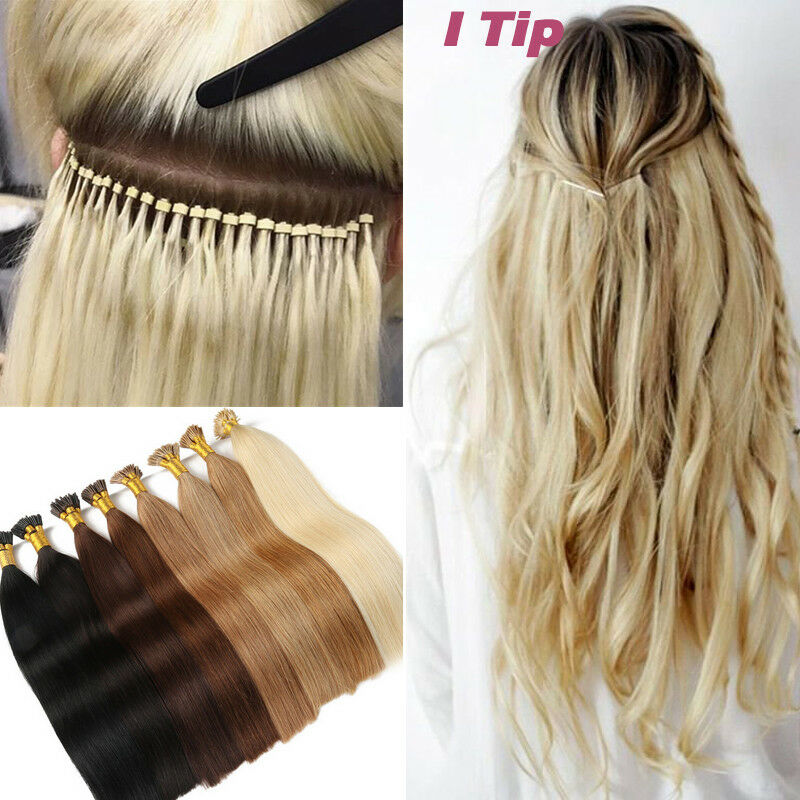 Uk Remy Human Hair Extensions Pre Bonded Stick I Tip Itip 50g100s