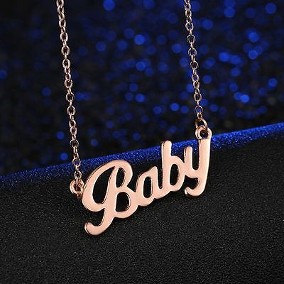 Womens Gold Plated Link Chain BABY Love Pendant Charm Fashion Necklace #N70 ()