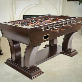 Solid wood foosball/football table