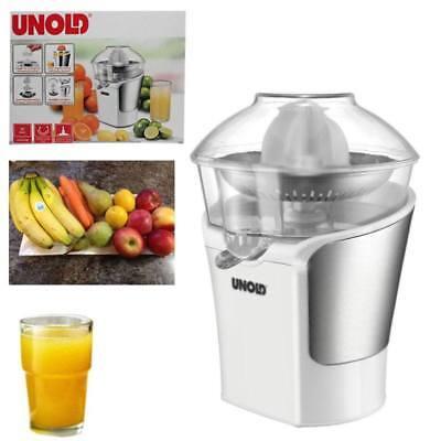 Unold Zitrus Citrus Presse Design Weiß Zitrone Saft Auslauf  Glas 2 Presskegel (Saft-auslauf)