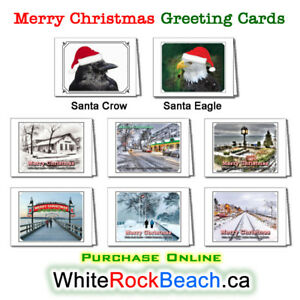 White Rock Beach Merry Christmas / Season's Greetings Cards