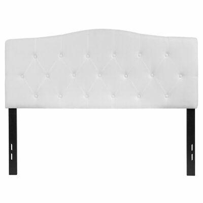 Flash Furniture Cambridge Full Fabric Panel Headboard in White