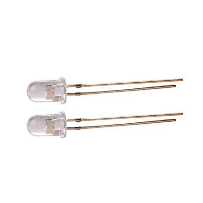 2 PCS 20A 5MM 365NM UV LED 365NM ULTRA VIOLETT LED LAMP AIP