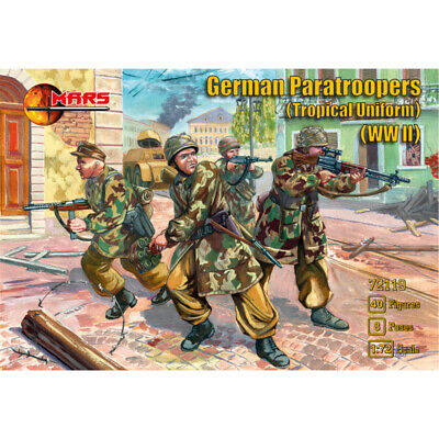 Mars Figures MS72119 - 1:72 WWII Alemán Paratroopers (Tropical Uniforme) - Nuevo