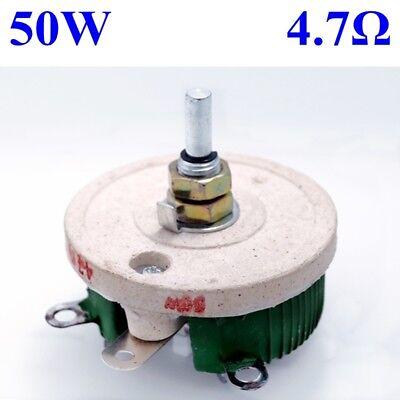 50w 4.7 Ohm Power Wirewound Potentiometer Rheostat Variable Resistor