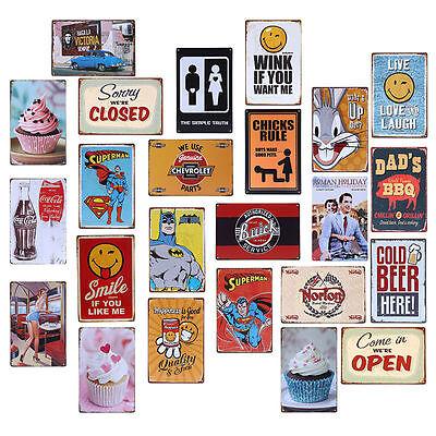 Restaurant Decor - Tin Metal Signs Retro Poster Slogan Restaurant Home Pub Club Bar Door Wall Decor