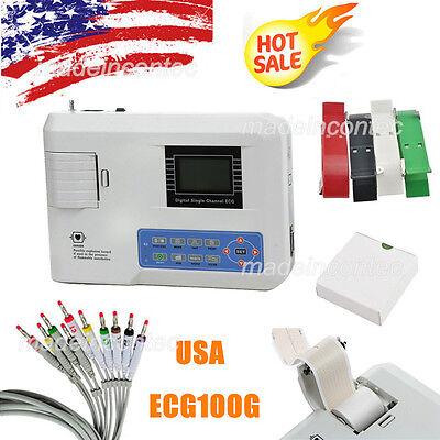 Digital Ecg Machine Portable One-channel 12-lead Ekg Electrocardiograph Printer